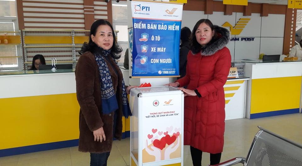 Hội Chữ thập đỏ thành phố phối hợp với Bưu Điện tỉnh Hà Tĩnh mở thùng quỹ nhân đạo