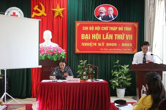 Hội Chữ thập đỏ tỉnh tổ chức Đại hội chi bộ lần thứ VII nhiệm kỳ 2020-2025