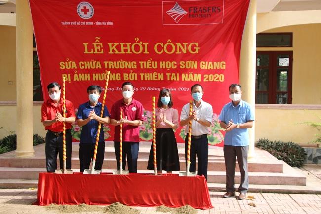 Khởi công sửa chữa trường Tiểu học Sơn Giang, huyện Hương Sơn