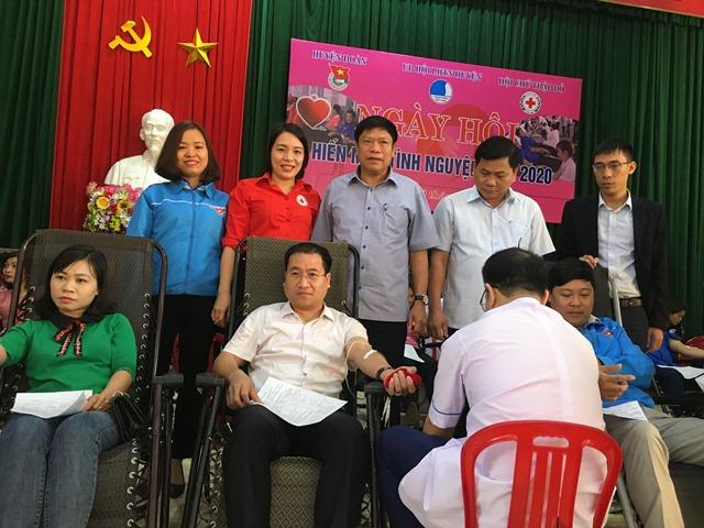 157 đơn vị máu được hiến tại Ngày hội Xuân hồng huyện Lộc Hà