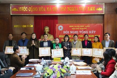 Hội chữ thập đỏ huyện Nghi Xuân tổ chức hội nghị tổng kết phong trào chữ thập đỏ năm 2018, triển khai nhiệm vụ năm 2019