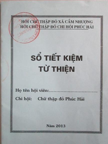 """Hội Chữ thập đỏ xã Cẩm Nhượng giúp hội viên thoát nghèo bằng """"Sổ tiết kiệm từ thiện"""""""