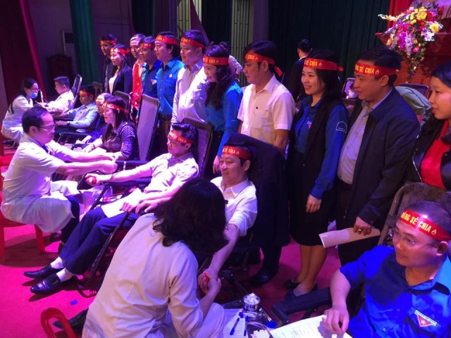 268 đơn vị máu được tiếp nhận tại Ngày hội hiến máu tình nguyện huyện Hương Khê