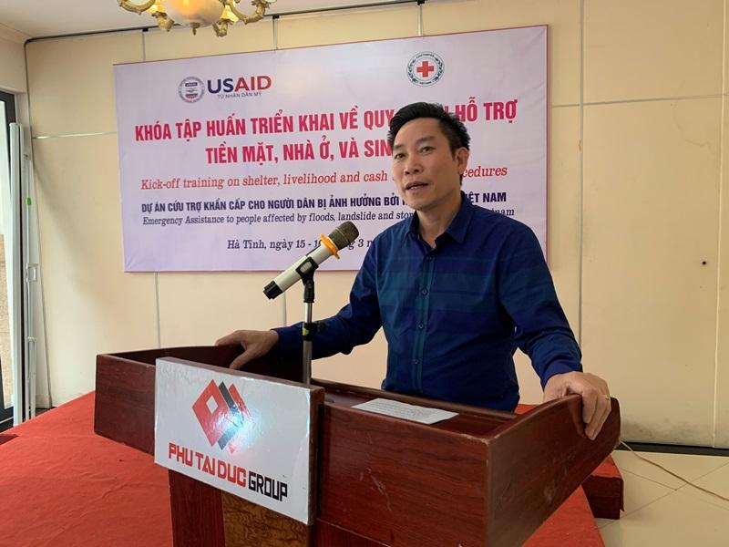 """Hà Tĩnh triển khai dự án """"Cứu trợ khẩn cấp cho người dân bị ảnh hưởng bởi mưa lũ ở Việt Nam"""""""