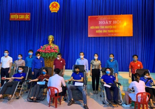 257 đơn vị máu được tiếp nhận tại Ngày hội hiến máu tình nguyện huyện Can Lộc